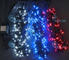 Гирлянда RL LED 600л., 24В, 3 нити*20 м, с 2-х канал.контрол.,триколор,черн.пр.IP54 RL-T3*20N2-B/WBR