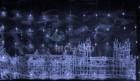Занавес светодиодный (водопад) IP54 RL 3*2м, LED 336 теп. белый, пр. пр.,н.контр. RL-WF3*2C4/1-T/WW