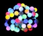 Гирлянда RL LED 50-шариков, 7,5м, автосмена цвета RGB, соедин. до 15шт. IP65 RL-T7,5-50C-23B-B/RGB