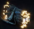 Гирлянда (нить-каучук) IP65 WN LED 100л., т.белый, мерцающий, 10 м,черный пр. 3мм,соед ww.01.7В.100+
