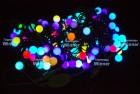 Гирлянда (нить) WN LED 50л., Шар,RGB,1д.-2цв.,5м,чер.каучук пр.,стык. IP54 m.01.7B.50+2,2ball