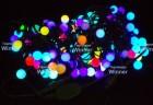 Гирлянда (нить) WN LED 100л.,Шар,RGB,1д.-2цв.,10м,чер.каучук пр. 2,5мм,соед IP54 m.01.7В.100+2,2b