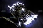 Гирлянда (нить) WN LED 200л., белый, мерцающий, 20м,чер.пр. 2мм,соед IP54 w.01.6В.200+