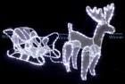 Фигура Олень с санями WN LED дюралайт, 60*100cм, белый, мерцающий, IP 65 3032-60W