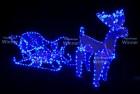 Фигура Олень с санями WN LED дюралайт, 60*100cм, синий, мерцающий, IP 65 3032-60B