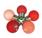 Лампа RL для гирлянды Белт-лайт LED 45 1W  E 27, красная RL-BL-E27-G45-R