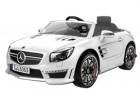 Машина на аккумуляторе MERCEDES 117*69*45 см, колеса EVA, р/у, MP3, свет/зв.,откр. дв.,белый SL63WE