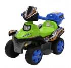 Квадроцикл на аккумуляторе TOYS 68*40*39 см, 3 км/ч, 6 V/4 Ah, 22 W, зеленый TR1204BG