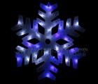 Снежинка WN LED 41см, сине-белая, 1 диод 2 цвета, пластиковая, полая внутри 10.5T.X-
