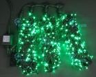 Гирлянда RL LED 600л., 24В, 3 нити*20 м, с 2-х канал.контроллером,зеленая,черн.пр. IP54 RL-T3*20N2-G