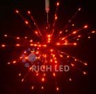 Ежик-трансформер RL LED 45см, 96л, красный, фольга красная, 220В, RL-TB45CF-R