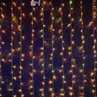 Занавес светодиодный (дождь) RL, 1,5*2м,облег.,хамел., прозр. IP54 RL-CS1,5*2-T/ARGB