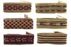 Лента 3,9см*2м тканевая бардо. с золотым  Е 50825