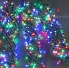 Гирлянда RL LED 600л., 24В, 3 нити*20 м, с контроллером,мерц. мульти,зел. пр., IP54 RL-S3*20F-G/M