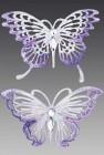 Бабочка Махаон искристая со стразами 13 х 10 см лавандовая/розовая AE1601L