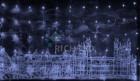 Занавес светодиодный (водопад) IP54 RL 3*2м, LED 336 белый, пр. пр., н.контр RL-WF3*2C4/1-T/W