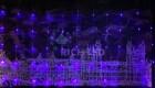 Занавес светодиодный (водопад) IP54 RL 3*2м, LED 336 синий, пр. пр., н.контр. RL-WF3*2C4/1-T/B