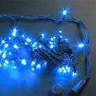 Гирлянда (нить-ПВХ-24В) IP54 RL LED 100л., синяя, 10 м, черн. пр.,до 8 шт.,н. контр. RL-S10C*24V-B/B