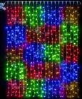Занавес светодиодный (дождь) IP54 RL 2*3м, мульти квадраты, пр. пр., н. контр. RL-C2*3-T/MS2