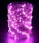 Электрогирлянда (роса-12В) IP67 Laitcom LED 100 розовый, 10 м, пр. пр., трансф.(08-007)Rosa 100-10-P