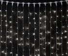 Занавес светодиодный (мерцание) IP44 Laitcom 2x2м, LED 400 бел., пр.п., до 5(01-184)PCL402BLW-10-2W