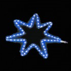 Звезда семиконечная синяя 45*45см дюралайт DLF-02B