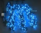 Гирлянда RL LED 600л., 24В, 3 нити*20 м, с 2-х канал.контроллером,синяя,черн. пр., IP54 RL-T3*20N2-B