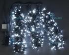 Гирлянда RL LED 600л., 24В, 3 нити*20 м, с 2-х канал.контроллером,белая,черн.пр. IP54 RL-T3*20N2-B/W