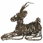 Ратан Олень 20см, золотой, сидящий Е 50116