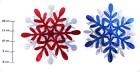 Снежинка голограф. 30см*2шт., 6цв., 3в.  Е 92095
