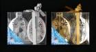 Набор шаров Д=10,5см*2шт, 2цв., зеркальная серия в ПВХ с лентой Е 91063