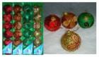 Набор шаров Д=6см*6шт., 4цв., блест. мишура с глитером лепестки, в ПВХ/картон Е 80769