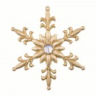 Снежинка Королевская лилия 11 х 12,5 см золотая искристая со стразом в центре AD1603G