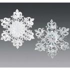Снежинка Зимнее кружево 11,5 х 12,5 см асс. из 2-х серебряная, бело-серебряная FA1808SS