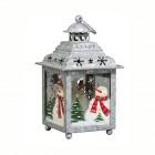 Подсвечник Фонарь Рождество в Провансе 12,5 х 12,5 х 21,5 см винтажный (металл/стекло) KH71719