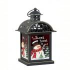 Подсвечник Фонарь рождественский 14,5 х 13 х 23 см винтажный (металл/стекло красное) KH71737