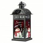 Подсвечник Фонарь рождественский 15 х 13 х 30 см винтажный высокий (металл/стекло красное) KH71736