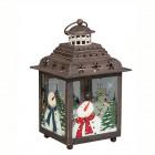 Подсвечник Фонарь рождественский Классика 17 х 17 х 28 см средний (металл/стекло) KH71710