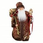 Дед Мороз 45 см в бордово-золотой бархатной шубе SD4596