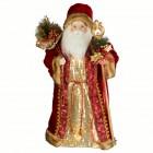 Дед Мороз 60 см в красно-золотой шубе с золотым посохом SD6099