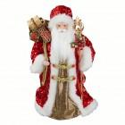 Дед Мороз 45 см в красной шубе с пайетками SD4598