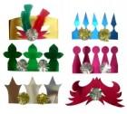 Набор корона/перья/мишура, 6шт. Е 0300