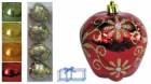 Яблоки 8см*4шт. блест. с цветами Е 80235