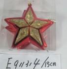 Звезда 15см*2шт., 6цв., матовый/блест. в ПВХ Е 91314