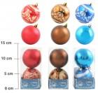 Набор шаров Д=7см*2шт., 3цв., матовый/блест. с узором, в ПВХ Е 91333