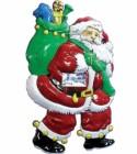 Панно Дед Мороз с лошадкой в мешке 68*42см Е 3186