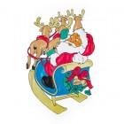 Панно Дед Мороз на санях 81*56см Е 94332