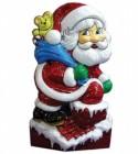 Панно Дед Мороз на крыше 52*19см Е 3188