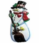 Панно Снеговик с птичкой 60*30см Е 3189