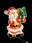 Дед Мороз с елкой 46*35см, 30л, провод белый Е 91046